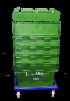 Plastic of plastiek verhuisdozen zijn veel handiger dan kartonnen verhuisdozen.