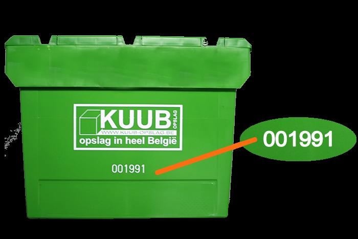 Hou precies bij waar al uw goederen, spullen, kaften, ... zijn met de genummerde verhuisdozen. Te huur bij Kuub.