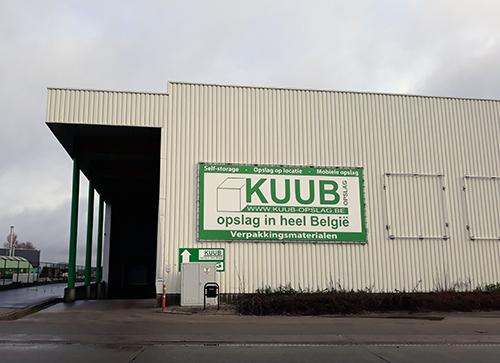 Kuub Opslag ligt in Brugge aan dePathoekeweg 88 –8000 Brugge